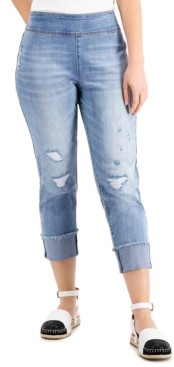 INC International Concepts Inc Pull-On Straight-Leg Jeans, Created for Macy's
