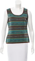 M Missoni Sleeveless Patterned Knit Top