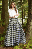 Shabby Apple Waltzing Matilda Skirt Green Plaid-LIMITED EDITION