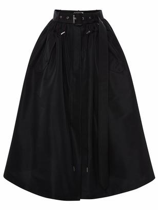 Alexander McQueen Parka-Inspired Faille Midi Skirt