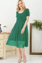 Sweet Mommy Flair Tulle Maternity and Nursing Dress PKM