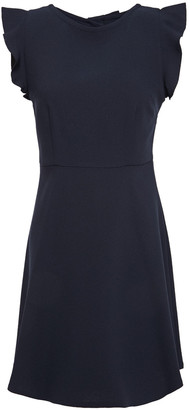 Claudie Pierlot Open-back Bow-embellished Crepe Mini Dress