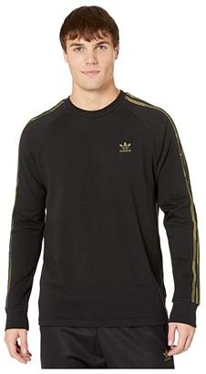 adidas Camo Long Sleeve Tee (Black/Multicolor) Men's T Shirt