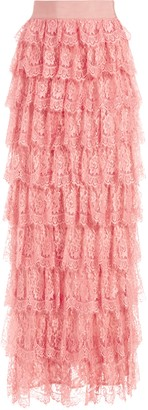 Alice + Olivia Ella Lace Tiered Maxi Gown Skirt