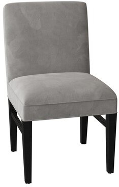 Sloane Sutton Compact Upholstered Dining Chair Whitney Body Fabric: Addisyn Glacier, Leg Color: Dark Walnut