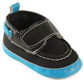 Luvable Friends Black & Blue Booties - Infant