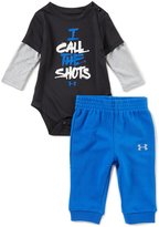 Under Armour Baby Boys Newborn-12 Months I Call The Shots Bodysuit & Pants Set