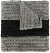 DSQUARED2 striped ribbed scarf - women - Angora/Wool - One Size