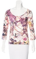 Just Cavalli Floral Print Scoop Neck Top