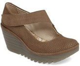 Fly London Women's Yeon Mary Jane Platform Wedge