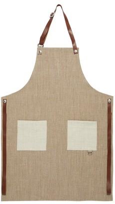 Brunello Cucinelli Leather-trimmed Canvas Apron - Beige
