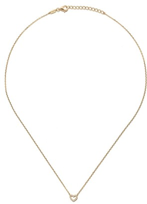 As 29 18kt yellow gold diamond Open Heart necklace