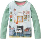 Oilily Aquamarine Art Panel Tee - Infant Toddler & Girls