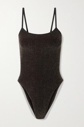 Hunza G Net Sustain Maria Metallic Swimsuit - Black