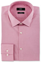 HUGO BOSS Slim-Fit Easy-Iron Mini-Check Dress Shirt, Pink