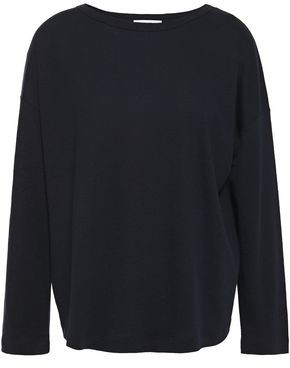 Vince Slub Tencel, Linen And Cotton-blend Jersey Top