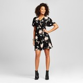 Women's Floral Wrap Dress Black - Xhilaration (Juniors')