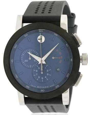 Movado Museum Chronograph Rubber Men's Watch, 0607003
