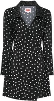 Solid & Striped polka dot wrap-style mini dress