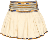 Isabel Marant Saxen embroidered pleated mini skirt