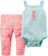 Carter's Sleeveless Bodysuit and Pants Set - Baby Girls newborn-24m