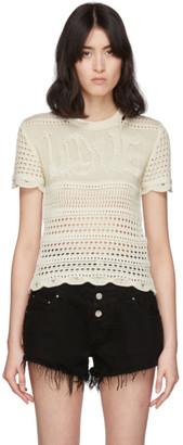 Amiri Off-White Love Crochet T-Shirt