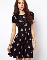 Asos Skater Dress in Cheetah Print