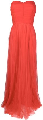 Elisabetta Franchi Flared Strapless Dress