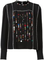 Isabel Marant embroidered long sleeved blouse