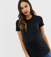 Asos DESIGN Maternity ultimate t-shirt with crew neck in black