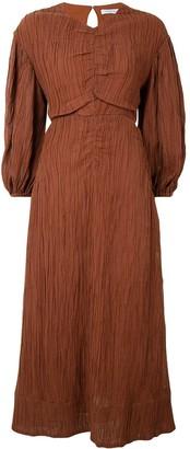 Rachel Gilbert Sorrell crinkle midi dress