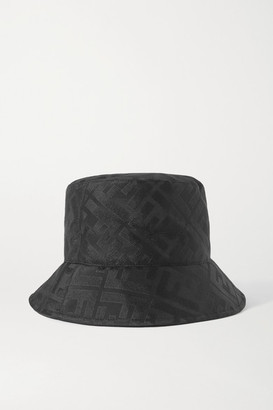 Fendi Silk-jacquard Bucket Hat - Black