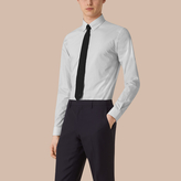 Burberry Slim Fit Button-down Collar Gingham Cotton Poplin Shirt