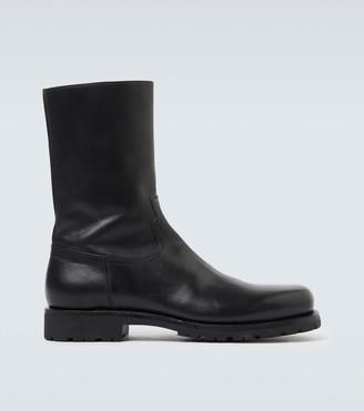 Dries Van Noten Leather biker boots