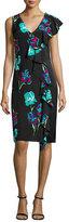 Diane von Furstenberg Sleeveless Floral-Print Ruffled Cocktail Dress
