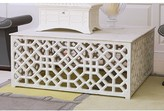 The Well Appointed House Global Views Fretwork Cocktail Table with Marble Top - LOW STOCK , ORDER NOW
