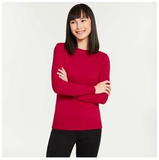 Joe Fresh Women's Cashmere-Blend Sweater, Red (Size XL)