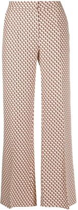 Valentino Double VLOGO printed flared trousers