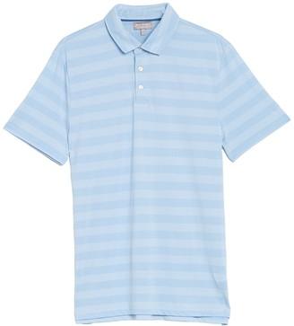 Hickey Freeman Striped 3 Button Polo Shirt