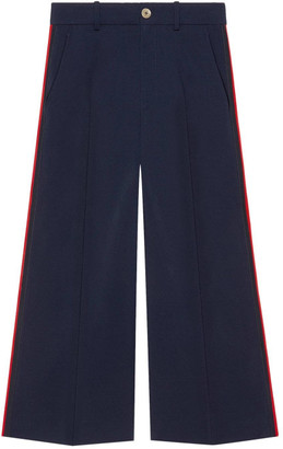 Gucci Side Stripe Web Band Trousers