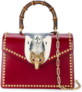 Gucci Animailer fox bamboo tote - women - Leather/Python Skin/Crystal/metal - One Size