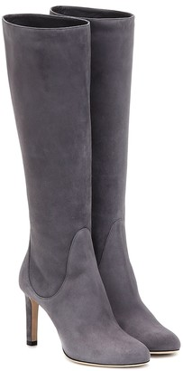 Jimmy Choo Tempe 85 suede knee-high boots