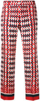 F.R.S For Restless Sleepers - geometric print cropped trousers - women - Silk - XS