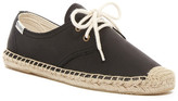 Soludos Leather Lace-Up Espadrille Derby