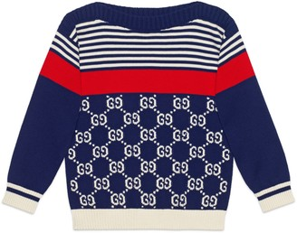 Gucci Children's GG and stripes knit jumper