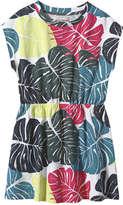 Joe Fresh Kid Girls' Print Pocket Dress, JF Midnight Blue (Size S)