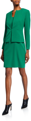 Albert Nipon Two-Piece Stretch Crepe Seam Detail Jacket & Sheath Dress Set
