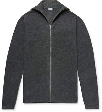 Schiesser Jonah Slim-Fit Melange Wool And Cashmere-Blend Zip-Up Cardigan