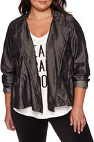 Boutique + Boutique+ Draped Cargo Jacket - Plus