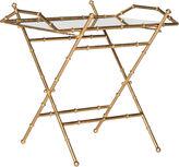 Safavieh Mott Bamboo Tray Table, Gold/Mirror